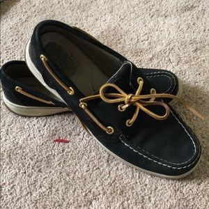 BLACK AND GOLD SUPER CUTE SPERRYS!!ONLY WORN ONCE